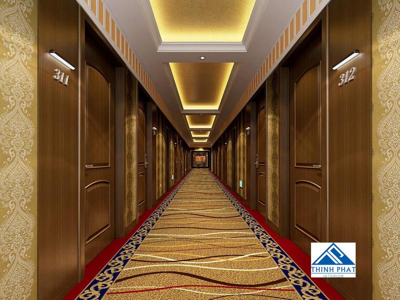thảm hành lang khách sạn