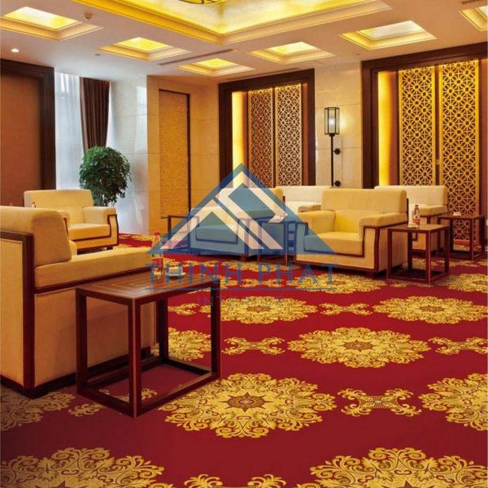 thảm khách sạn in hoa